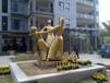 定做玻璃钢铸铜小品雕塑抽象人物跳舞雕塑