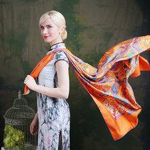 高檔真絲絲巾批發市場,新款各類絲巾零售,認準鶯尚圖片