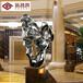 深圳雕塑厂定制纯手工太湖石假山不锈钢雕塑室内高档创意饰品摆件