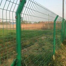 高速公路护栏网双边丝围栏厂家1.8米高绿色铁丝网