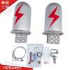 24芯48芯opgw/adss铝合金光缆接头盒光纤接续盒1进2出金属接线盒