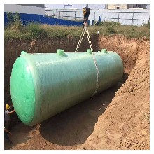 玻璃钢环保化粪池工地190方化粪池图片
