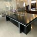 咸陽辦公家具家私現代簡約開放油漆板式黑橡色會議桌臺工廠直銷