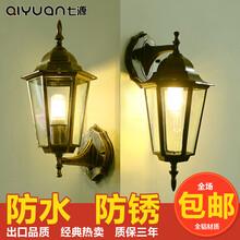 郑州阳台壁灯欧式防水复古户外壁灯LED走廊过道室外复古墙壁灯庭院灯