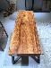 非洲进口乌金木实木大板家具办公桌会议桌茶桌-赠脚架