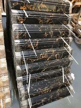 水头踢脚线厂家天然大理石地脚线雅典黑金花图片