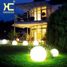 LED发光圆球灯创意户外防水七彩景观庭院草坪灯圣诞充电落地灯图片