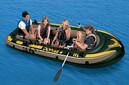 充气船INTEX海鹰钓鱼橡皮艇4-5人加大艇钓鱼船加厚皮划艇厂家批发图片