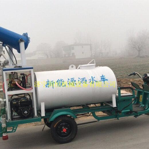 電動三輪霧炮灑水車自帶水罐新能源噴霧灑水車