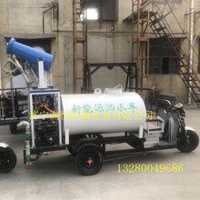 园林绿化小型电动洒水车工地施工除尘洒水雾炮车图片