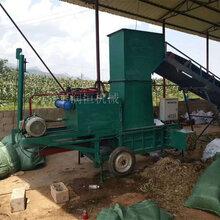 青储玉米秸秆压块套袋机双缸卧式发酵青贮打包机图片