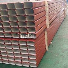 厂家定制100130型108144型彩钢落水管、金属雨水管图片