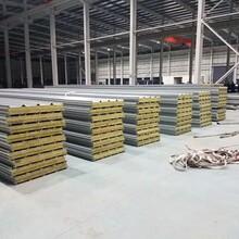 上海批发机制岩棉夹芯板复合岩棉板保温防火隔热阻燃耐高温图片