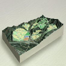 3D衛星地形沙盤,立體彩色沙盤,立體彩色衛星沙盤,立體彩色地形沙盤圖片