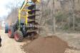 佳木斯冻土液压螺旋挖坑机大海机械专利产品