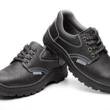 厂家现货批发胶粘橡胶底优质牛皮面料钢包头防砸防刺穿劳保鞋