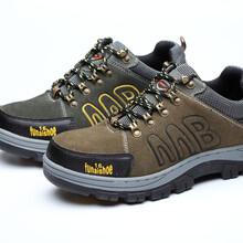 厂家现货供应反绒牛皮牛筋大底安全鞋钢头钢底防砸防刺穿劳保鞋