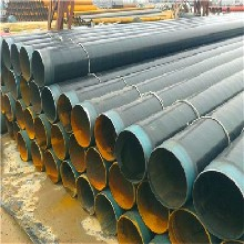 山东法兰链接四油五布防腐钢管生产发展图片
