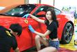 法拉利施工漆面透明膜,保護汽車原廠車漆