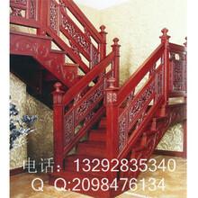 茶餐厅实木楼梯扶手图片