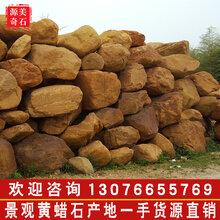 广东源美奇石场批发天然黄蜡石、自采自销运输安装一条龙服务