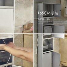 304不锈钢三合一多功能纸巾架,洗手间厕纸盒厂家直销图片
