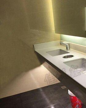 不銹鋼垃圾投遞口安裝在洗手臺上的北京廠家