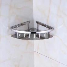 304不锈钢卫生间不锈钢毛巾架厕所杂物架图片