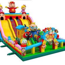 春风十里开始生意河南鹤壁儿童充气城堡滑梯