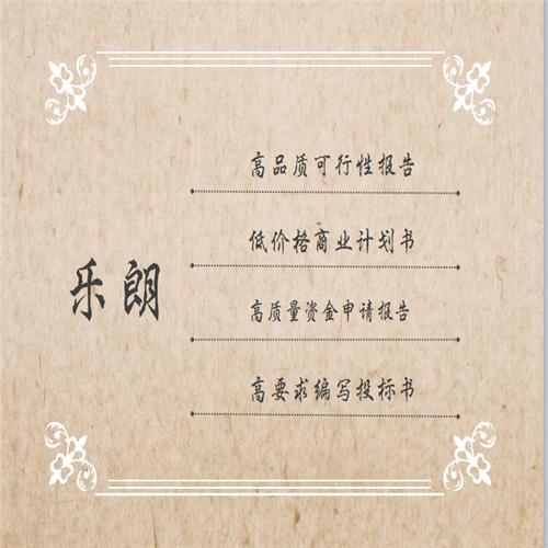 荆州写立项可行性报告可研公司