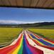 旅游景區大紅彩虹滑道設備價格旱地滑道設施七彩滑梯
