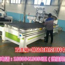 广东中山全自动数控开料机橱柜衣柜打孔下料设备东莞木工雕刻机