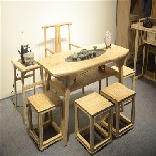 上海厂家直销新中式简约茶桌老榆木实木免漆家具茶台功夫茶艺桌椅组合