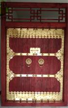 上海老榆木松木别墅庭院进户寺庙商铺实木大门
