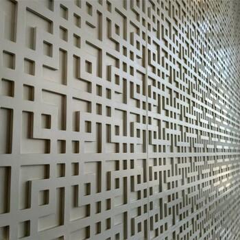 背景墙装饰铝窗花格铝窗花屏风厂家