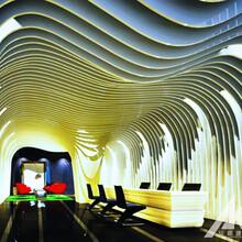 广州弧形铝方通吊顶厂家定制图片