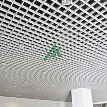 定制高端时尚铝格栅天花吊顶图片