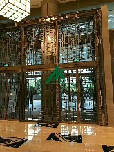仿古木纹铝窗花造型铝窗花厂家直销图片