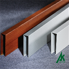 木纹铝方通价格唐山铝方通吊顶安装图片