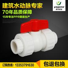 厂家直销全塑双活接球阀,PPR阀门,洛阳雅洁管业专业生产PPR管材管件