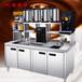 永城奶茶设备全套奶茶操作台批发零售可做代理