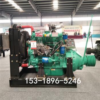 潍坊华岳4108柴油机100马力粉碎机专用发动机4108机头
