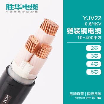 胜华电缆厂胜华YJV22-0.6/1KV铠装铜带交联铜芯电力电缆线