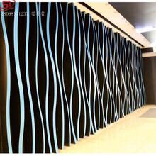 集成吊頂鋁天花仿木紋U型槽外立墻面波浪形鋁方通支持定制圖片