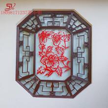 铝窗花厂家定制中式铝窗花铝花格10mm雕刻铝窗花装饰图片