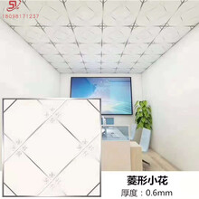 鋁扣板廠家直銷工程600600板鋁合金方塊吊頂裝飾材料圖片