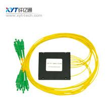 纤亿通分光器2分16ABS盒式光分路器SC接头纤长1米。