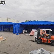 修水县大型推拉雨棚定做九江市电动伸缩雨篷直销图片