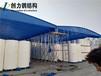 山東泰安肥城市推拉雨棚電動雨棚固定雨篷環保噴漆房