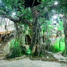 云梦县假山丶假树丶塑石假山丶仿木栏杆价格多少图片